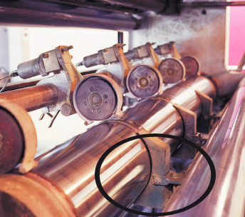 Suction casings on a central vacuum system